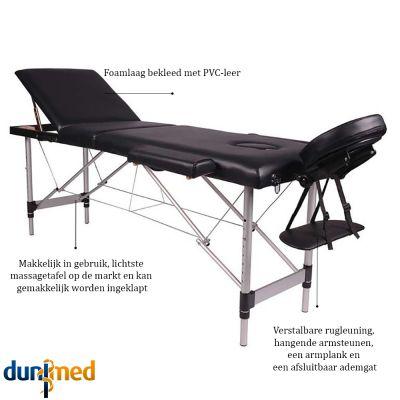 medidu massage tafel aluminium frame inklapbaar productinformatie