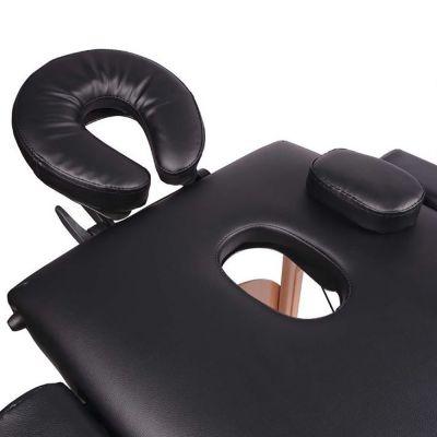 medidu massage tafel houten frame inklapbaar hoofdsteun gedeelte foto van boven genomen