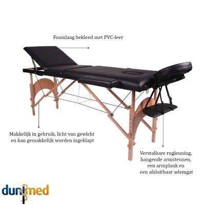 medidu massage tafel houten frame inklapbaar productinformatie