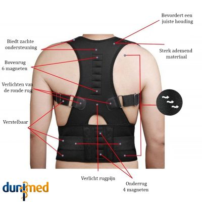 medidu premium houding corrector posture corrector ventilerend productinformatie