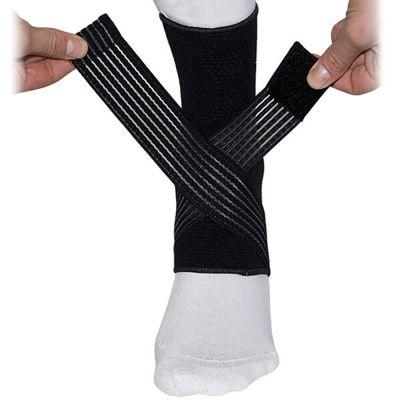 medidu premium enkelbrace klittenband straps getoond
