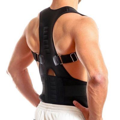 medidu premium houding corrector posture corrector ventilerend foto van achteren genomen