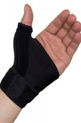morsa medidu duimbandage polsbandage gedragen om linkerhand