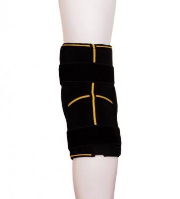 Kniebrace met scharnieren achterkant