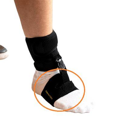 novamed klapvoet brace shoeless accessoire gedragen om voet