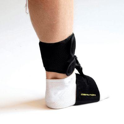 novamed klapvoet brace shoeless accessoire foto vanaf de zijkant genomen