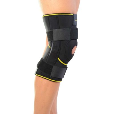 novamed kniebrace met scharnieren foto vanaf de zijkant genomen