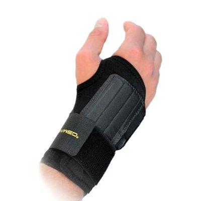 novamed lichtgewicht polsbrace beschikbaar in zwart en beige kopen