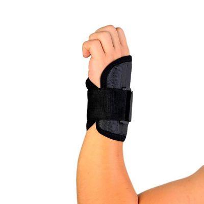 novamed polsbrace sport werk brace onderkant van de brace gefotografeerd