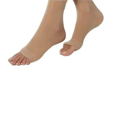 novamed steunkousen met open teen ingezoomd op de voeten