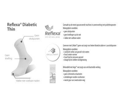Reflexa Diabetic diabetes sokken
