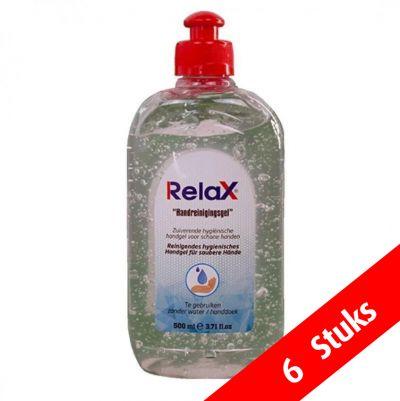 relax desinfecterende handgel 6 stuks vooraanzicht