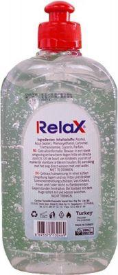relax desinfecterende handgel 6 stuks achteraanzicht