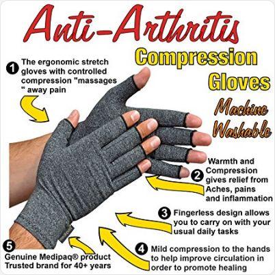 Reuma Handschoenen met anti sliplaag eigenschappen