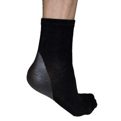 solelution sokken met siliconen gel hiel met gel hiel aan de buitenkant gedragen