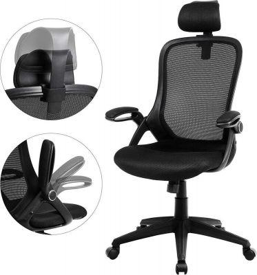 songmics ergonomische bureaustoel