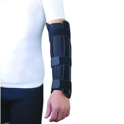 super ortho elleboog onderarm spalk om linker onderarm gedragen