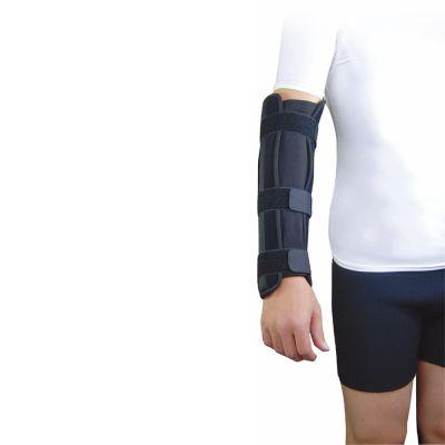 super ortho elleboog onderarm spalk om rechter onderarm gedragen