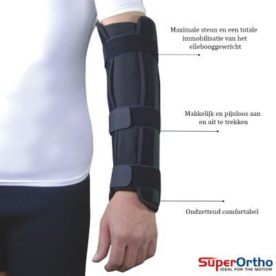 super ortho elleboog onderarm spalk productinformatie