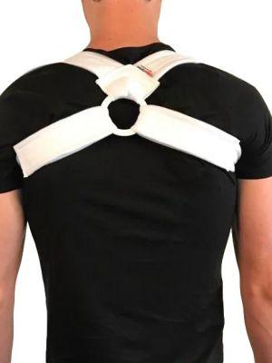 Houding corrector achterkant over het shirt