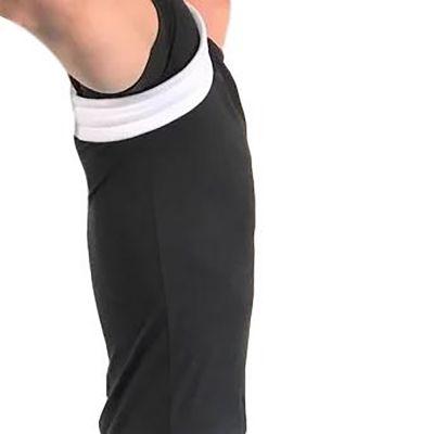 super ortho houding corrector sleutelbeenbrace rugrechthouder vanaf zijkant gefotografeerd met armen omhoog