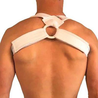 sleutelbeenbrace rugrechthouder zonder shirt gedragen