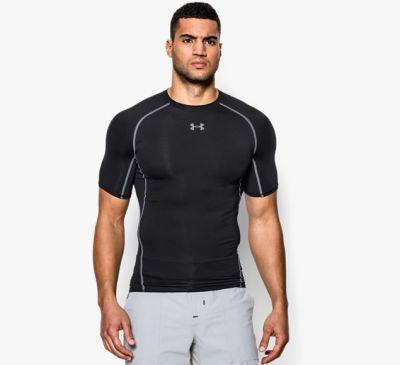 Under Armour HeatGear Compressie shirt voor Heren zwart
