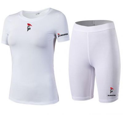 Gladiator Compressie broek en shirts wit dames
