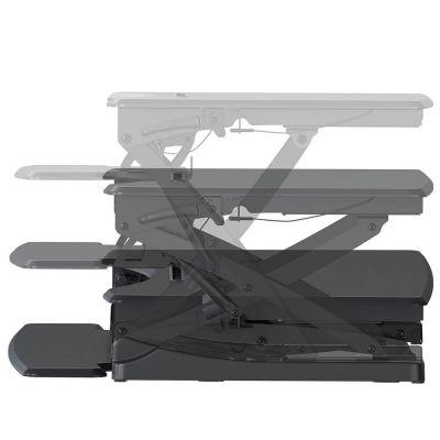 ergonomisch in hoogte verstelbaar zit sta bureau uitgevouwen